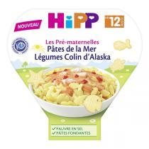 HiPP - Pâtes de la mer - Légumes Colin d'Alaska bio 12 mois - 230 g
