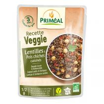 Priméal - Lentilles et pois chiches cuisinés 250g