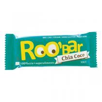 Roo'bar - Barre crue Chia & Noix de coco bio et vegan - 30 g