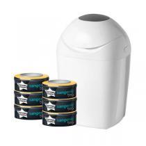 Sangenic - Poubelle à couches TEC blanc + 6 recharges