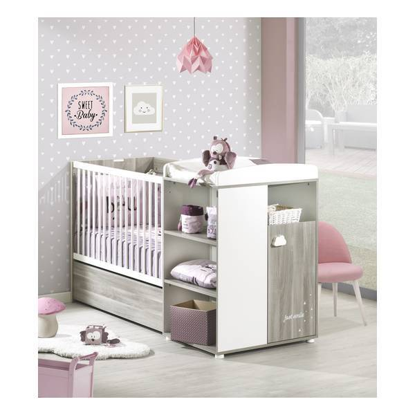 lit combin smile 120x60 volutif en 90x190cm ch ne silex baby price la. Black Bedroom Furniture Sets. Home Design Ideas