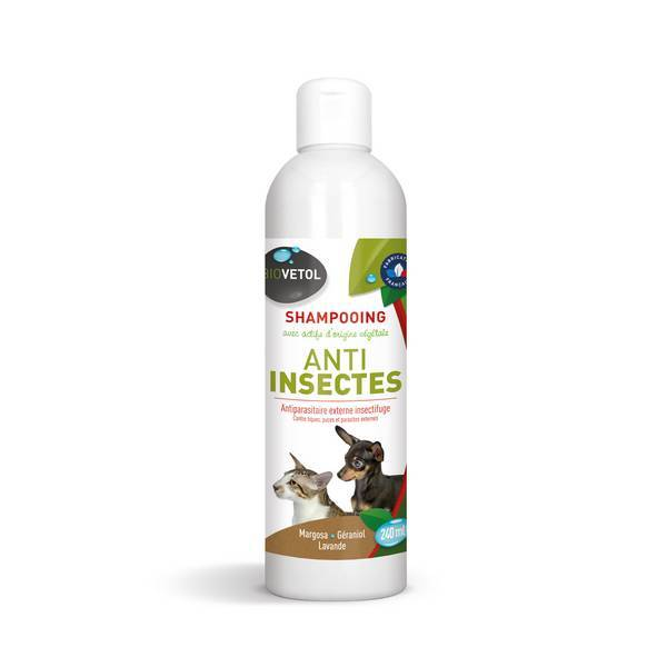 Biovetol - Shampooing antiparasitaire chien et chat 240ml