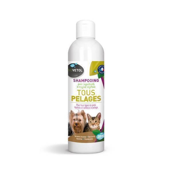 Biovetol - Shampooing naturel tous pelages chien et chat 240ml