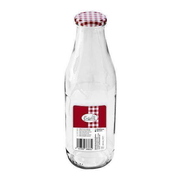 Einkochwelt - Bouteille en verre avec couvercle à visser 1L