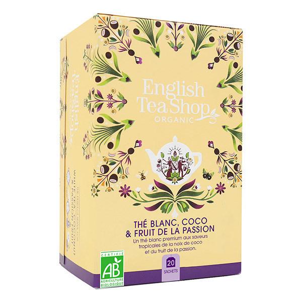 English Tea Shop - Thé blanc Coco fruit de la Passion 20 sachets