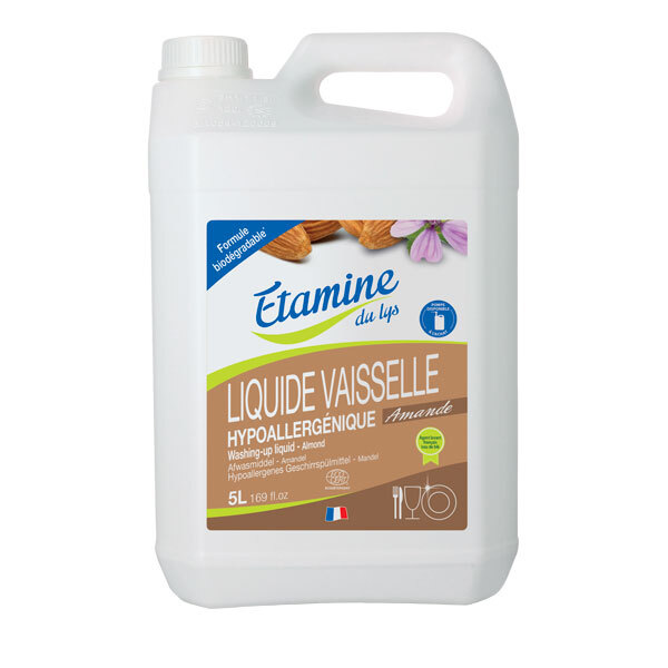 Etamine du Lys - Liquide vaisselle hypoallergénique amande 5L