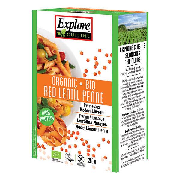 Explore Cuisine - Penne lentilles rouges - 250 g
