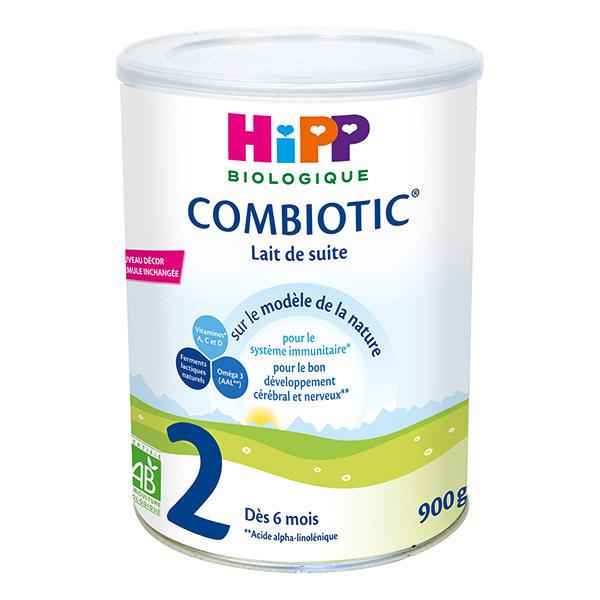 Hipp - Lot de 2 x Combiotic 2 Lait de suite Bio dès 6 mois 900g