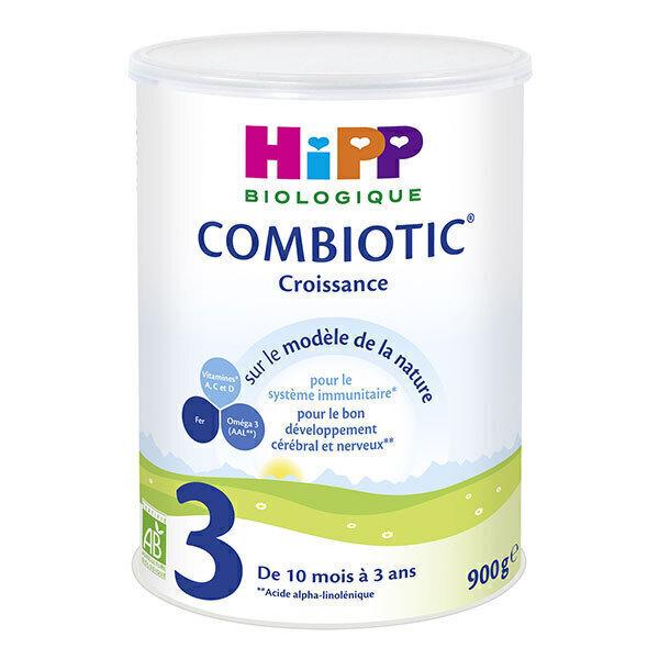 Hipp - Lot de 2 x Combiotic 3 lait de croissance Bio 900g