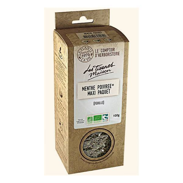 Tisane menthe poivr e bio feuille france 100g le comptoir d 39 herboristerie acheter sur - Le comptoir d herboristerie ...