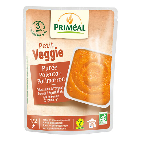 Priméal - Purée de polentaet potimarron 250g