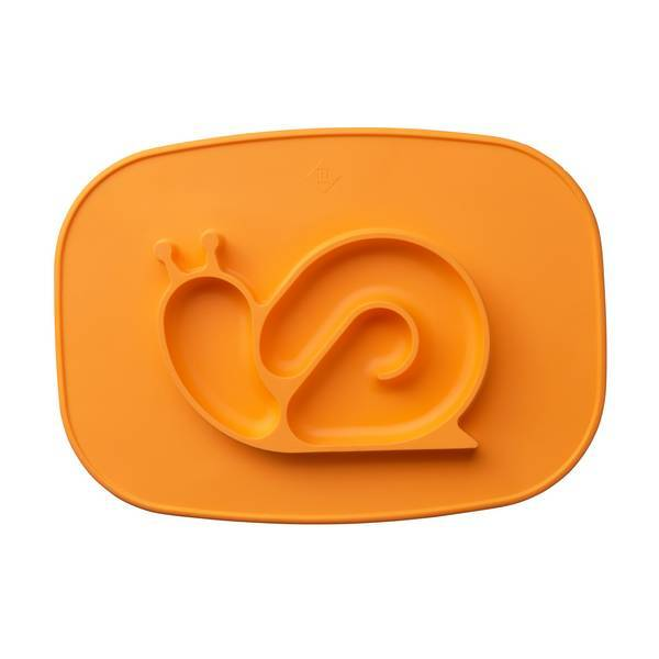 Tex Baby - Plateau assiette silicone - Escargot orange - 6mois+
