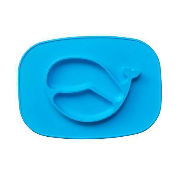 Tex Baby - Plateau assiette silicone - Baleine bleue - 6mois +