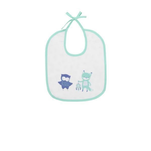 Tex Baby - Lot de 2 bavoirs éponge - Bleu - TU