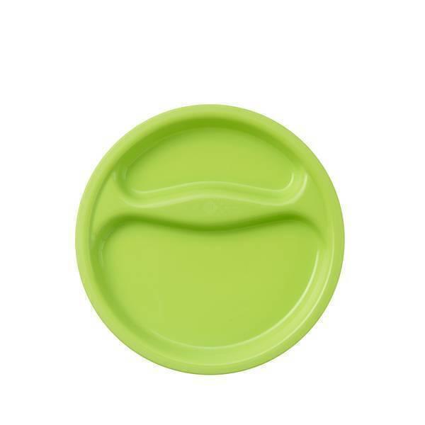 Tex Baby - Assiette creuse compartimentée - Vert anis