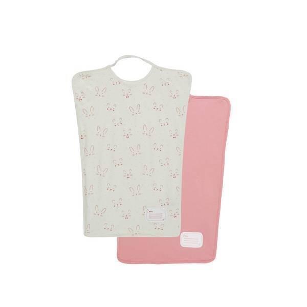 lot de 2 bavoirs maternelle rose tex baby la r f rence bien tre bio b b. Black Bedroom Furniture Sets. Home Design Ideas