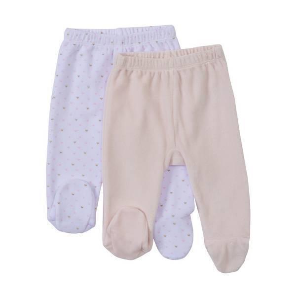 Tex Baby - Lot de 2 pantalons nouveau-né - Rose - 00/0 à 3/6 mois
