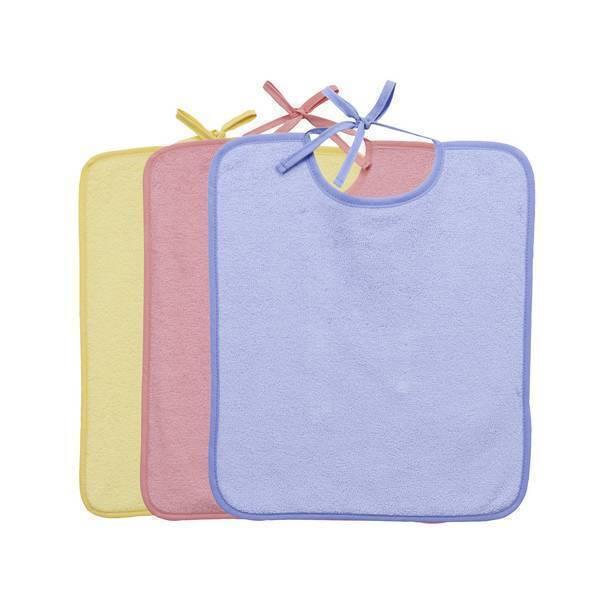 lot de 3 bavoirs unis bleu vert rose tex baby la r f rence bien tre bio b b. Black Bedroom Furniture Sets. Home Design Ideas