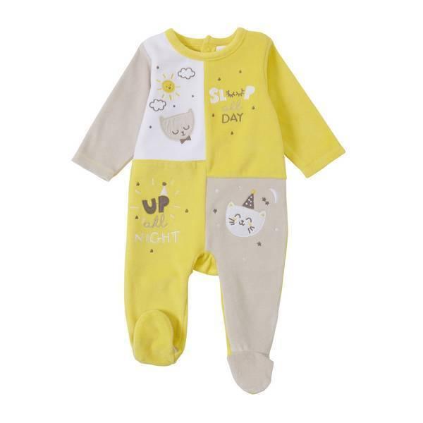 Tex Baby - Pyjama quadri jaune - 9 à 24 mois