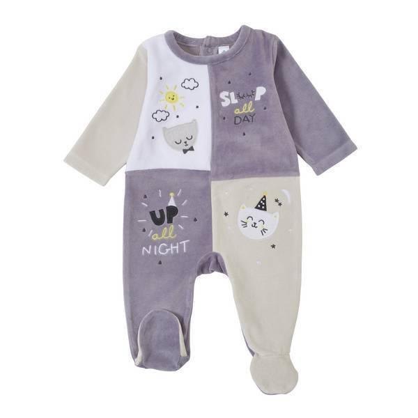 Tex Baby - Pyjama quadri gris - 9 à 24 mois
