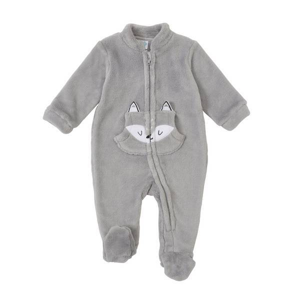 surpyjama avec poche gris 9 36 mois tex baby. Black Bedroom Furniture Sets. Home Design Ideas