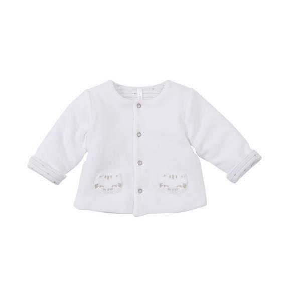Tex Baby - Veste nouveau-né - Blanc - 00/0 à 3/6 mois