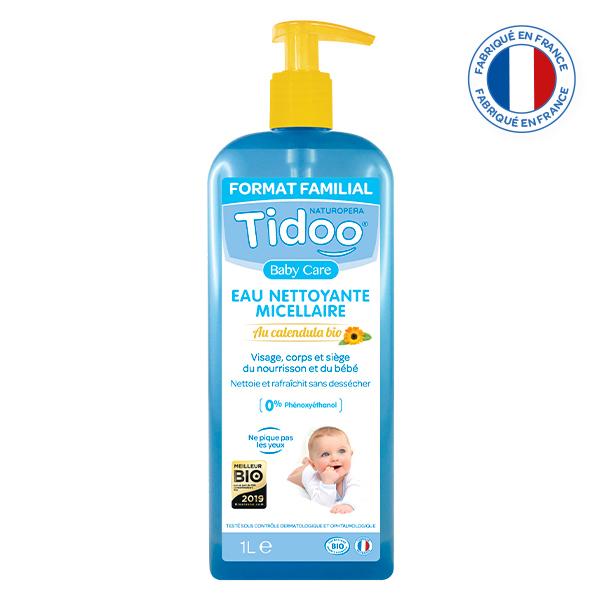 Tidoo - 2 Eaux Nettoyantes Micellaires Bio au Calendula 1L