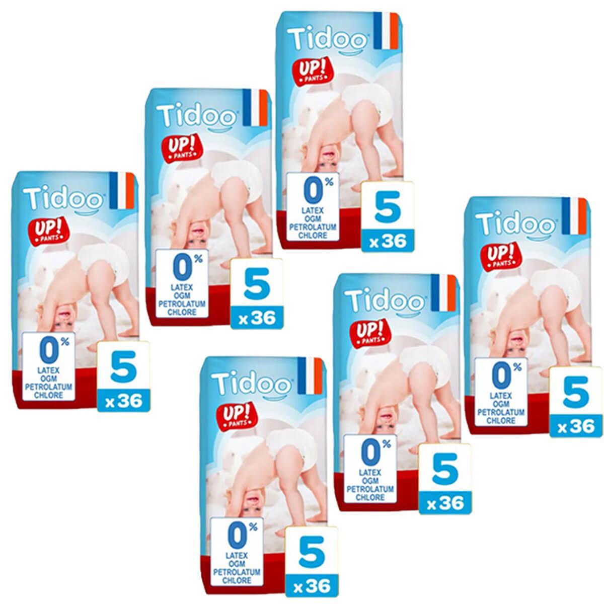 Tidoo - Pack 6x36 Culottes d'apprentissage T5 12-18g  Nature