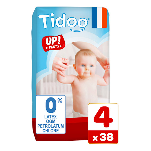 Tidoo - Pack 6x38 Culottes d'apprentissage T4 8-15kg  Nature