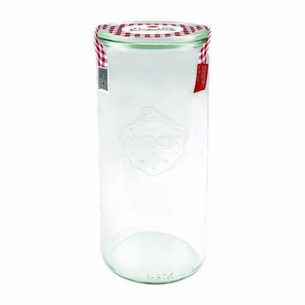 Weck - Bocal en verre cylindrique avec couvercle 1L